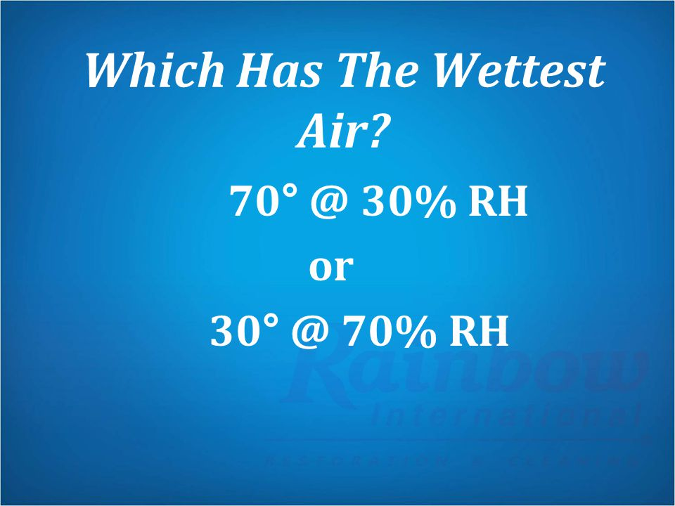 Which Has The Wettest Air