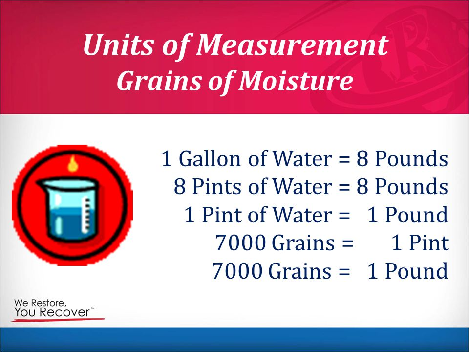 Units of Measurement Grains of Moisture