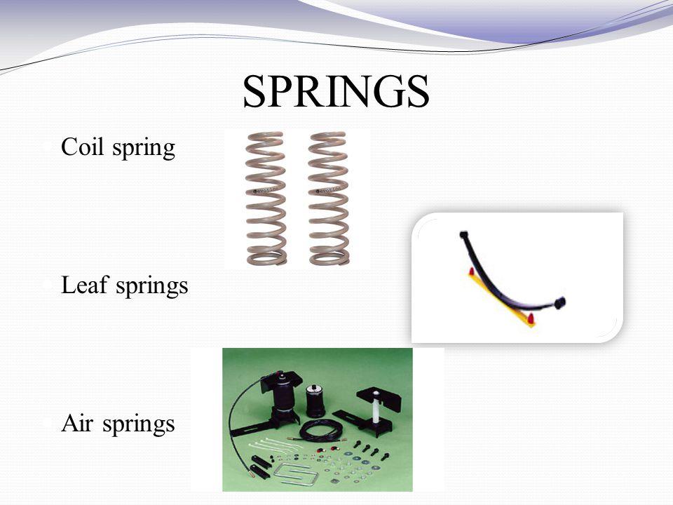SPRINGS Coil spring Leaf springs Air springs