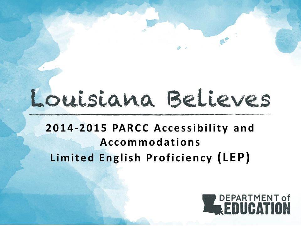 2014-2015 PARCC Accessibility and Accommodations