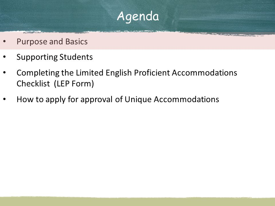 Agenda Purpose and Basics Supporting Students