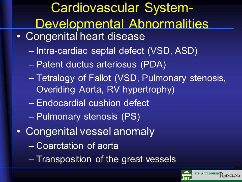 Cardiovascular System- Developmental Abnormalities