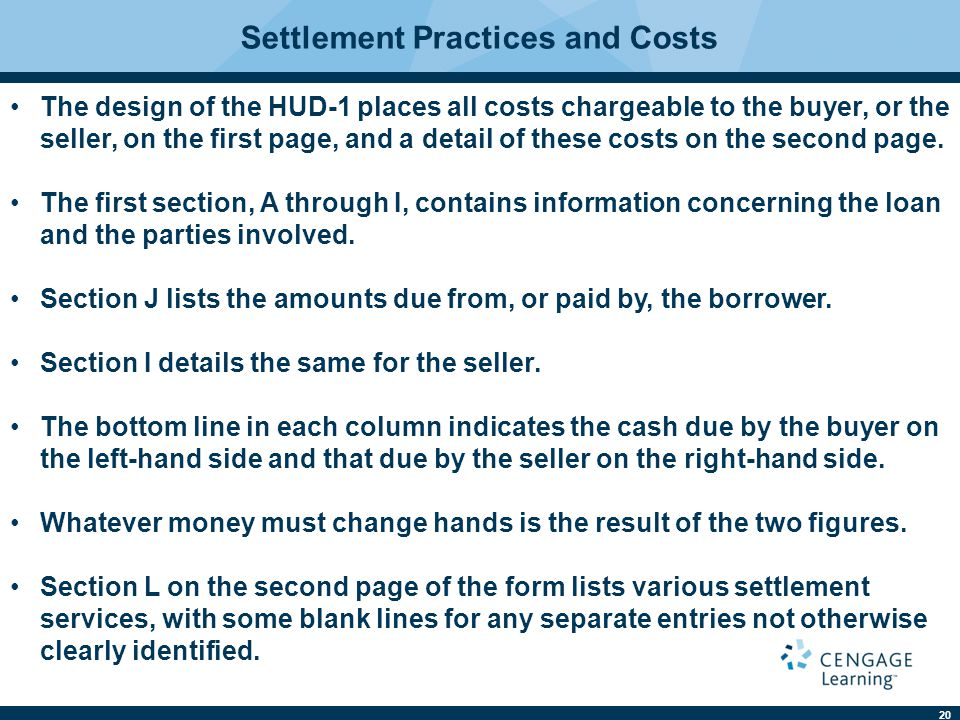 Settlement Practices and Costs