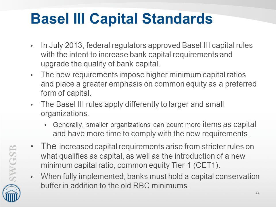 Basel III Capital Standards