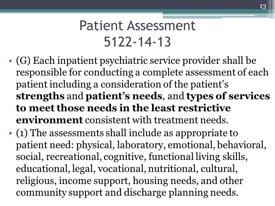 Patient Assessment 5122-14-13