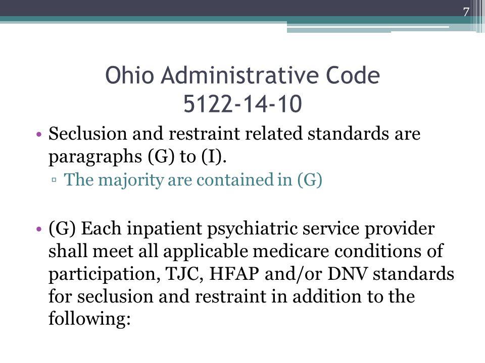 Ohio Administrative Code 5122-14-10