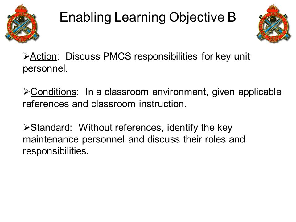 Enabling Learning Objective B