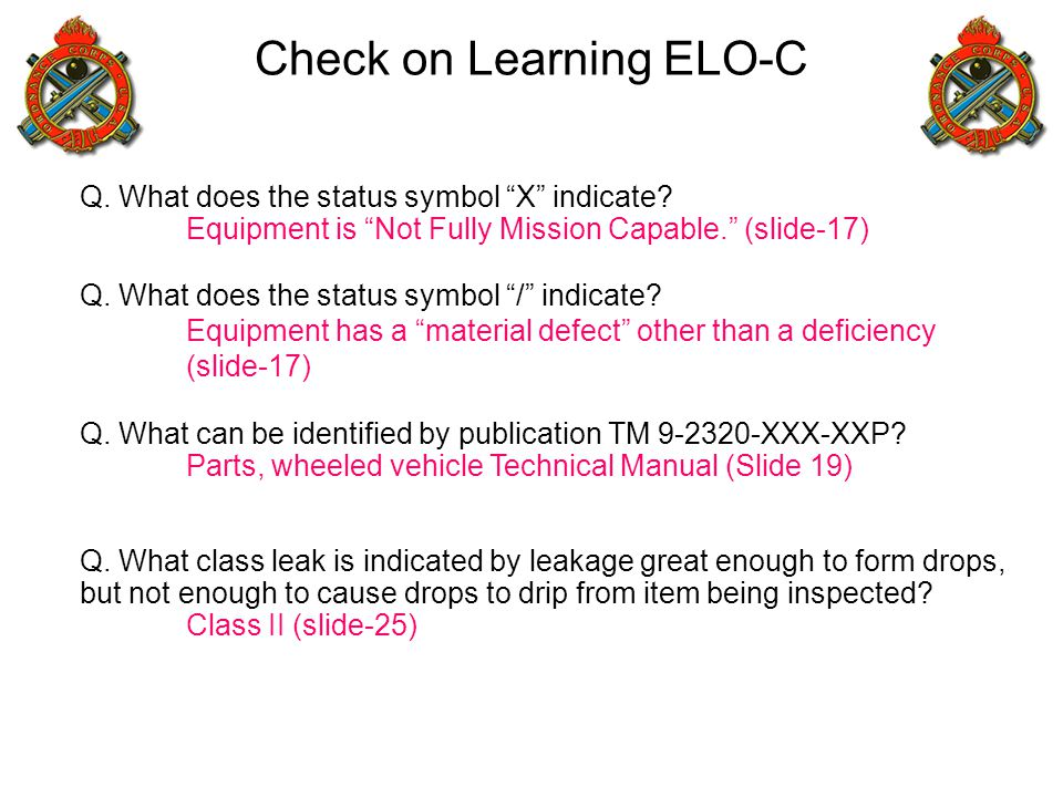 Check on Learning ELO-C