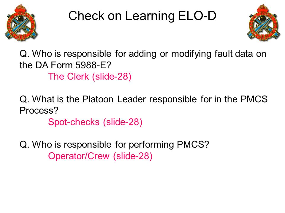 Check on Learning ELO-D