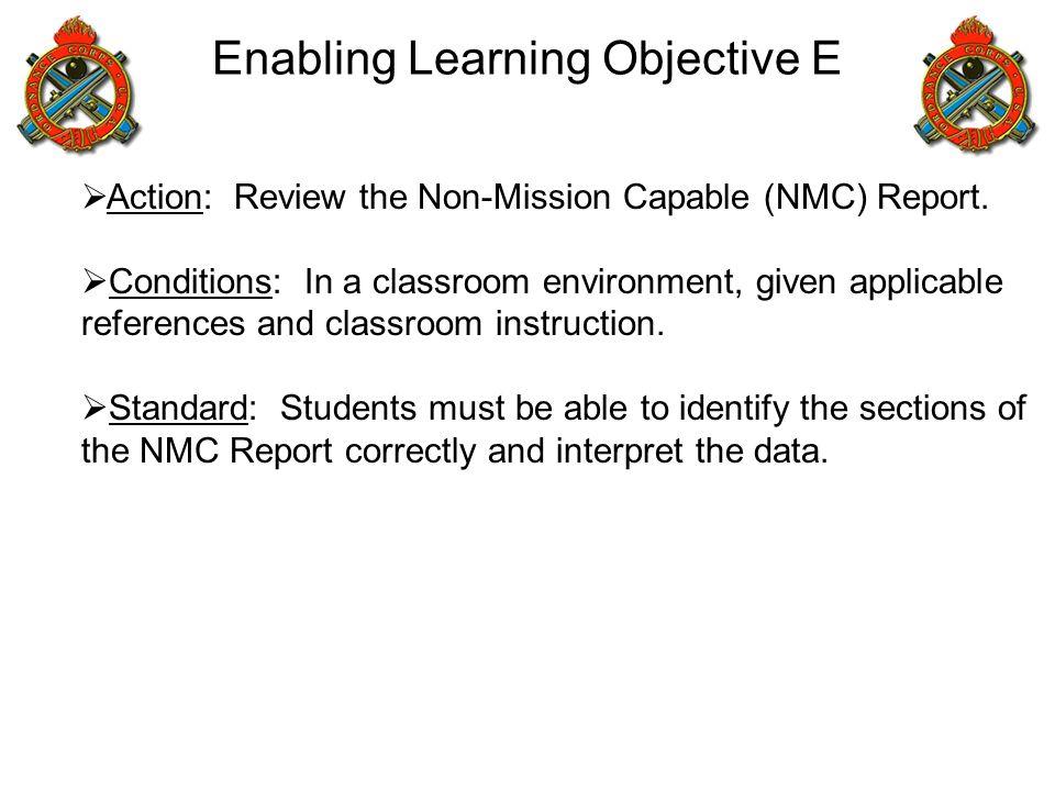 Enabling Learning Objective E