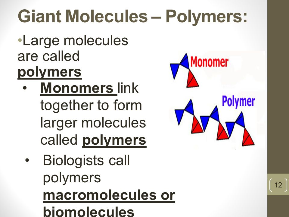 Giant Molecules – Polymers: