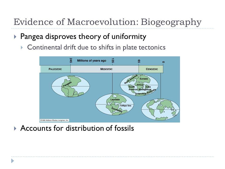 Evidence of Macroevolution: Biogeography