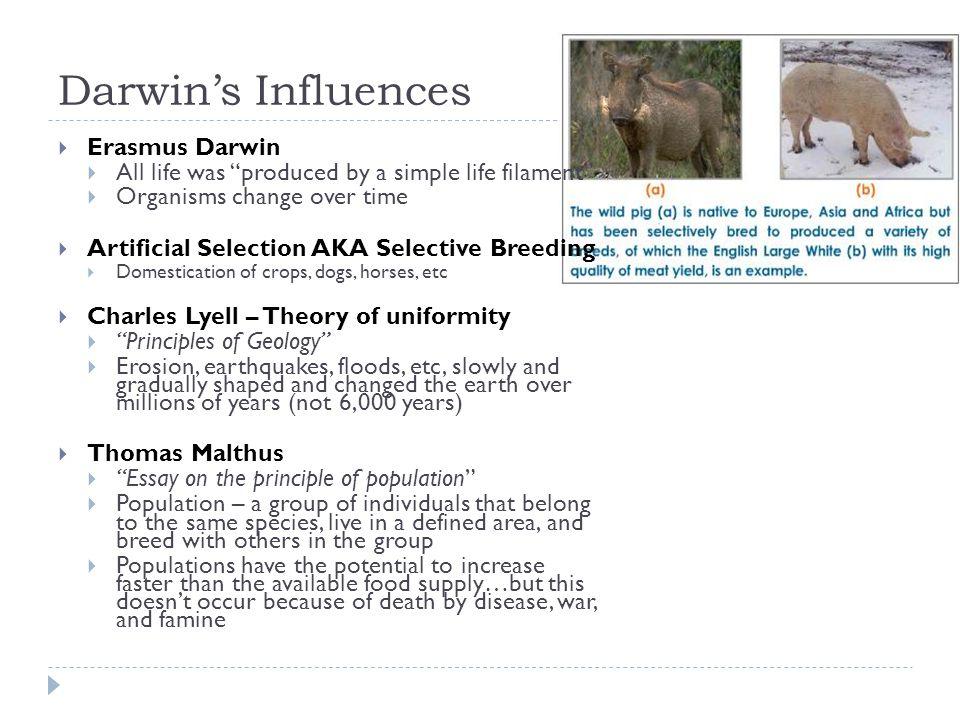 Darwin's Influences Erasmus Darwin