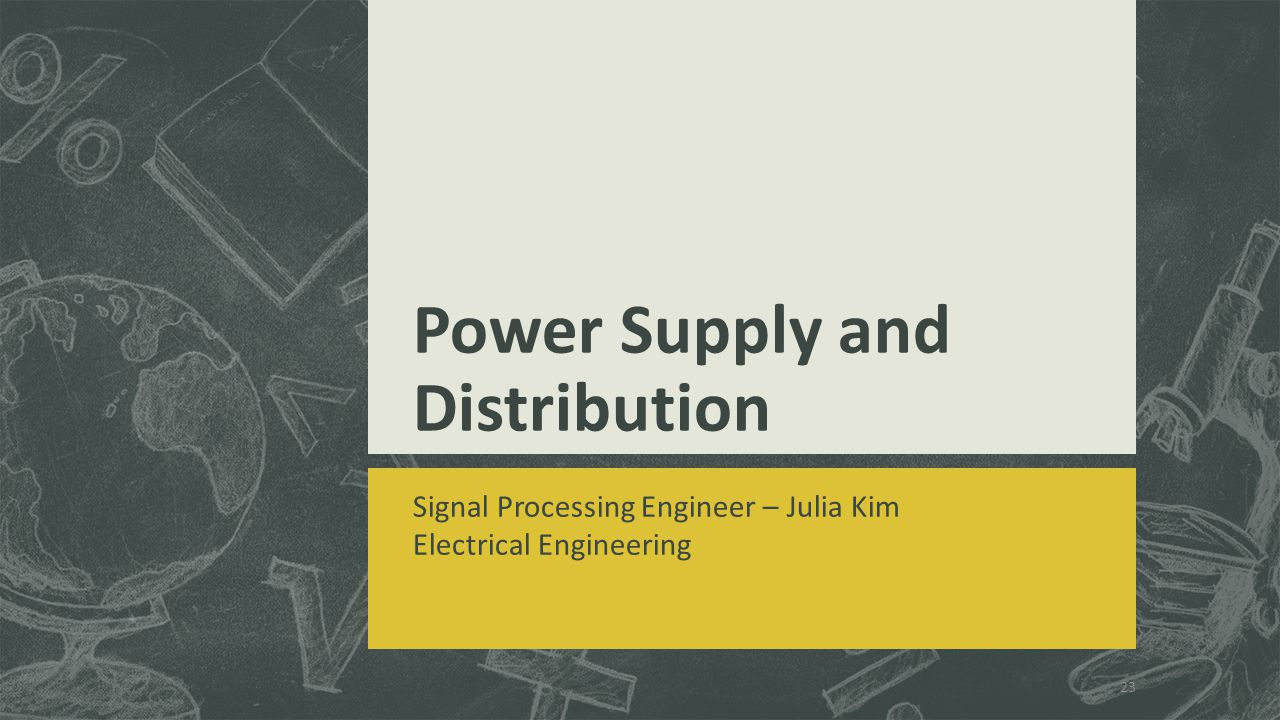 Power Supply and Distribution