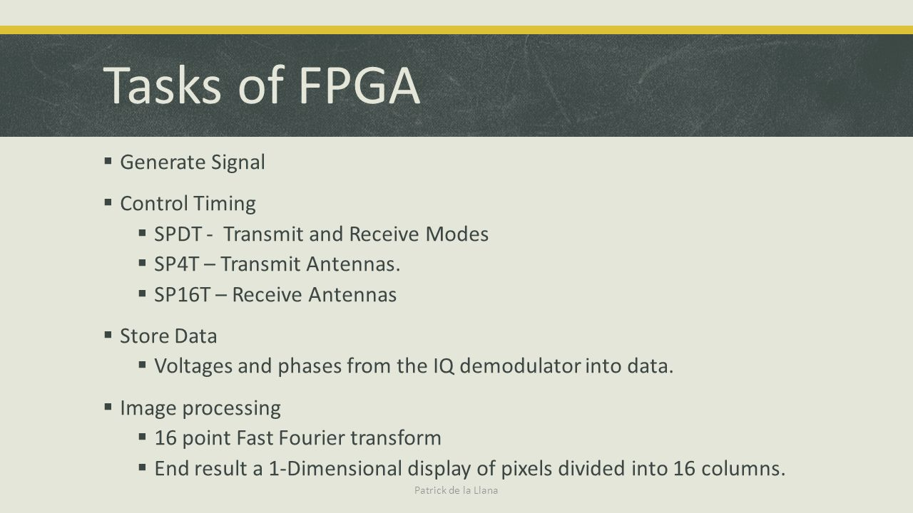 Tasks of FPGA Generate Signal Control Timing
