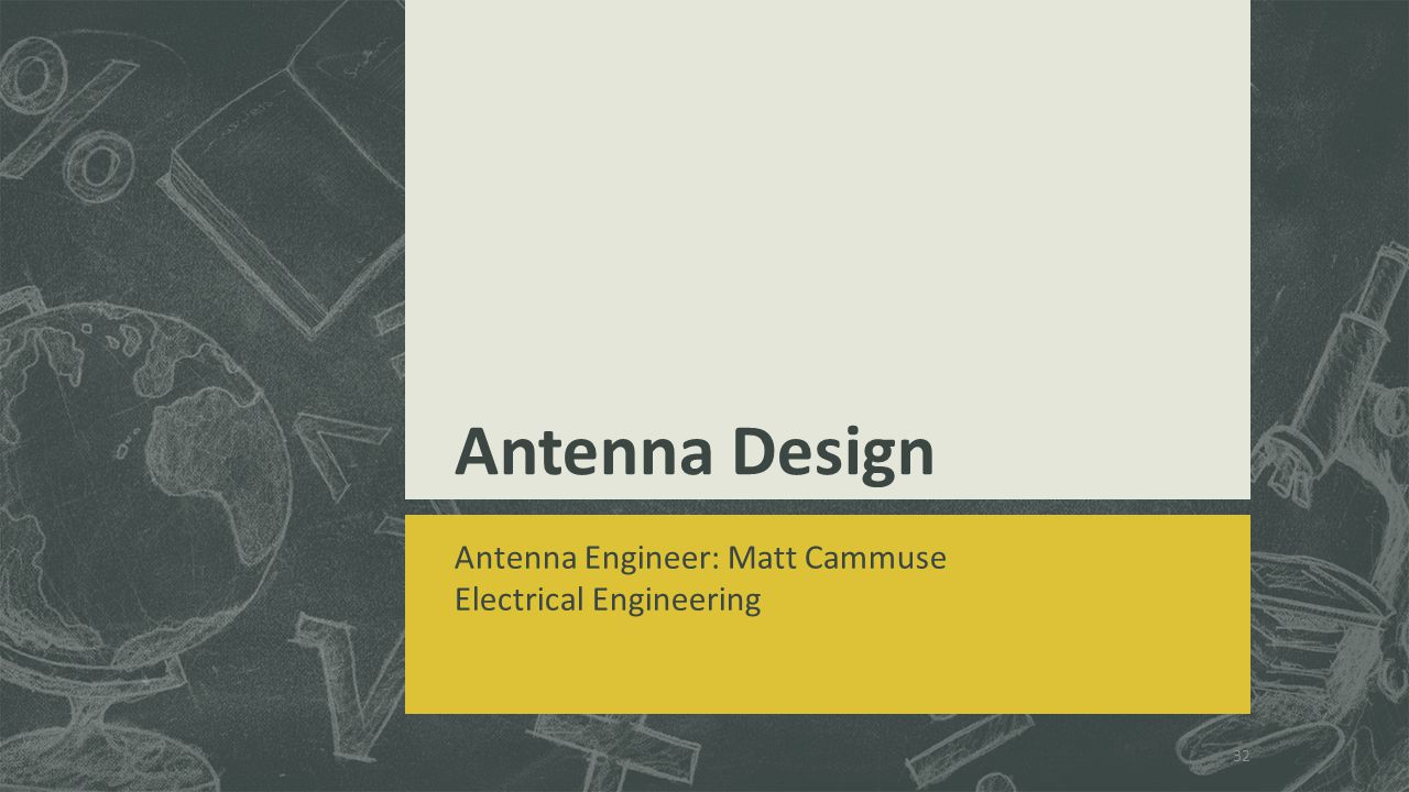 Antenna Design Antenna Engineer: Matt Cammuse Electrical Engineering