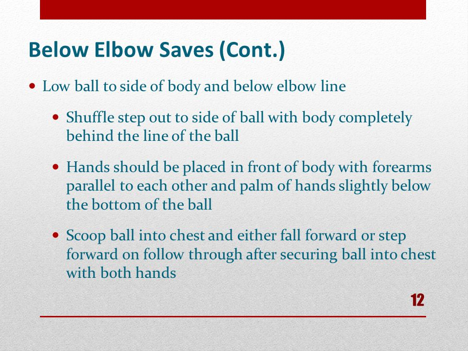 Below Elbow Saves (Cont.)