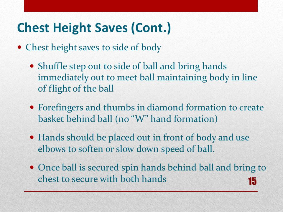 Chest Height Saves (Cont.)