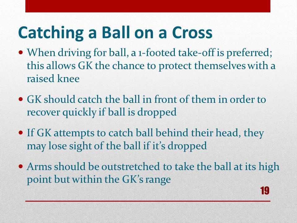 Catching a Ball on a Cross