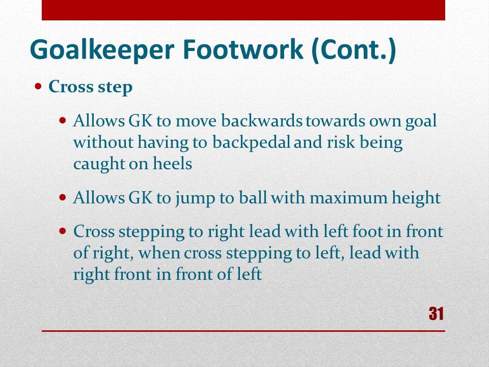 Goalkeeper Footwork (Cont.)