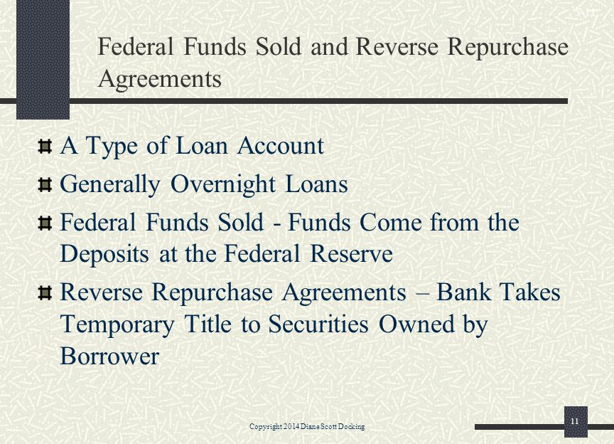 Federal Funds Sold and Reverse Repurchase Agreements