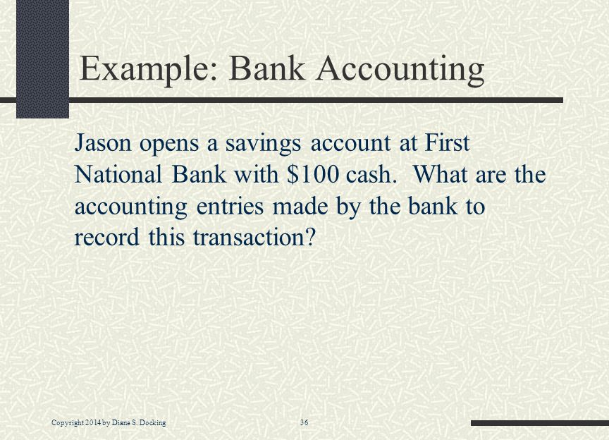 Example: Bank Accounting