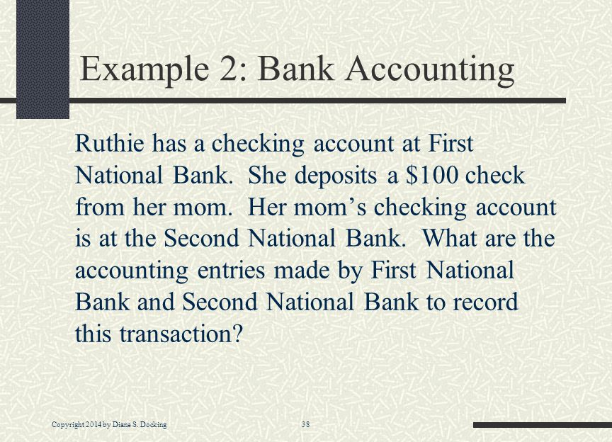 Example 2: Bank Accounting