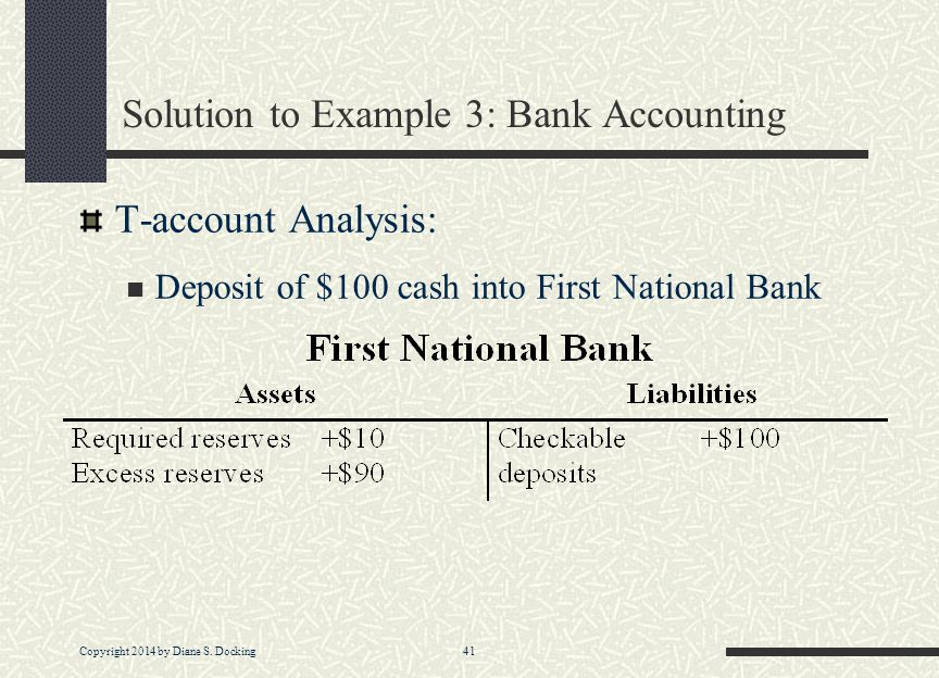 Solution to Example 3: Bank Accounting