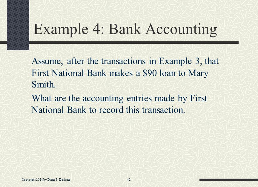 Example 4: Bank Accounting