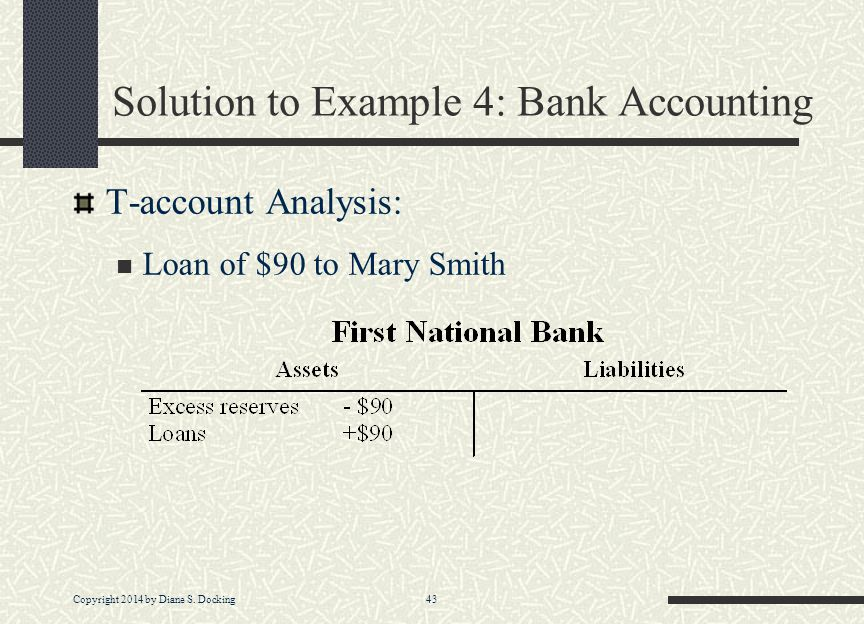 Solution to Example 4: Bank Accounting