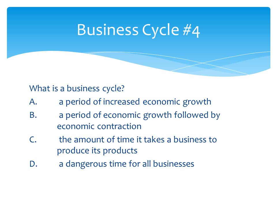Business Cycle #4