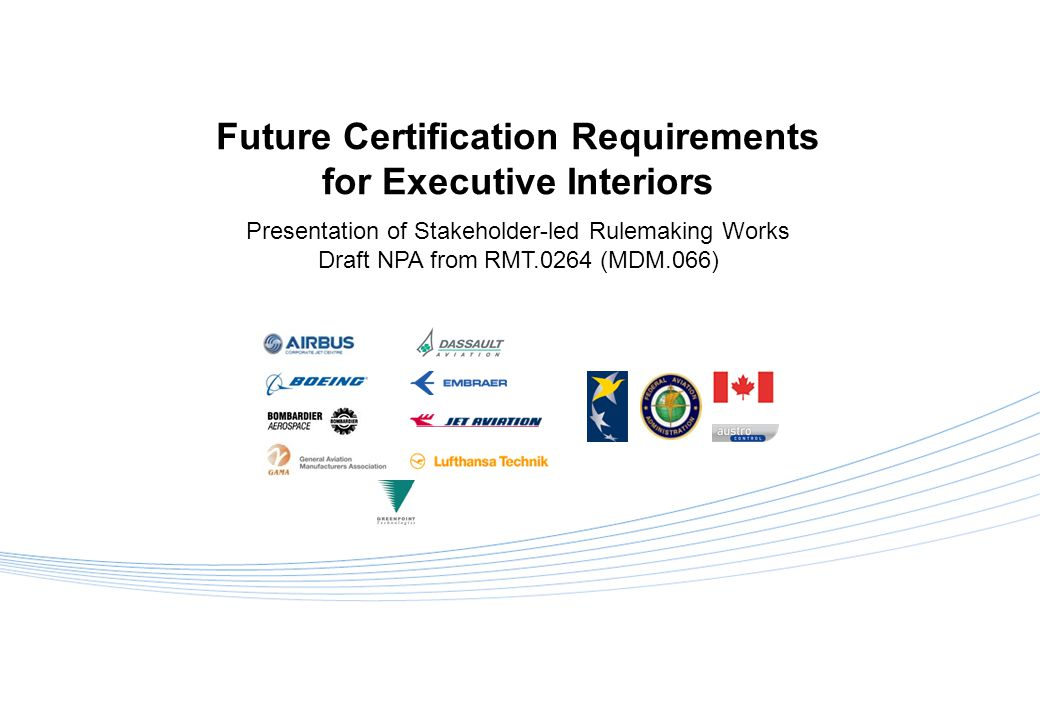 Future Certification Requirements for Executive Interiors