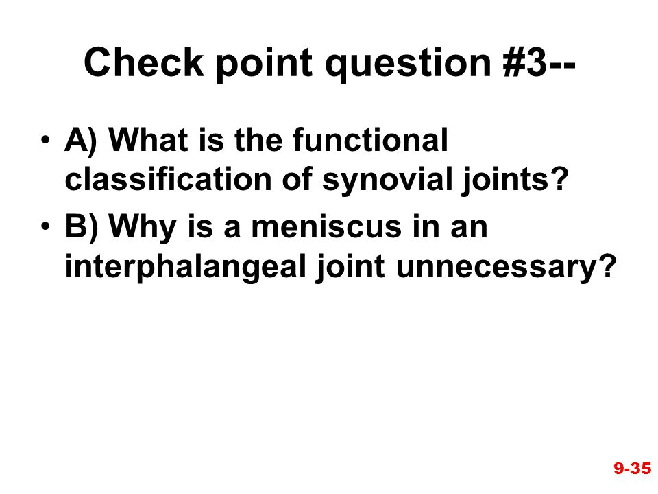 Check point question #3--