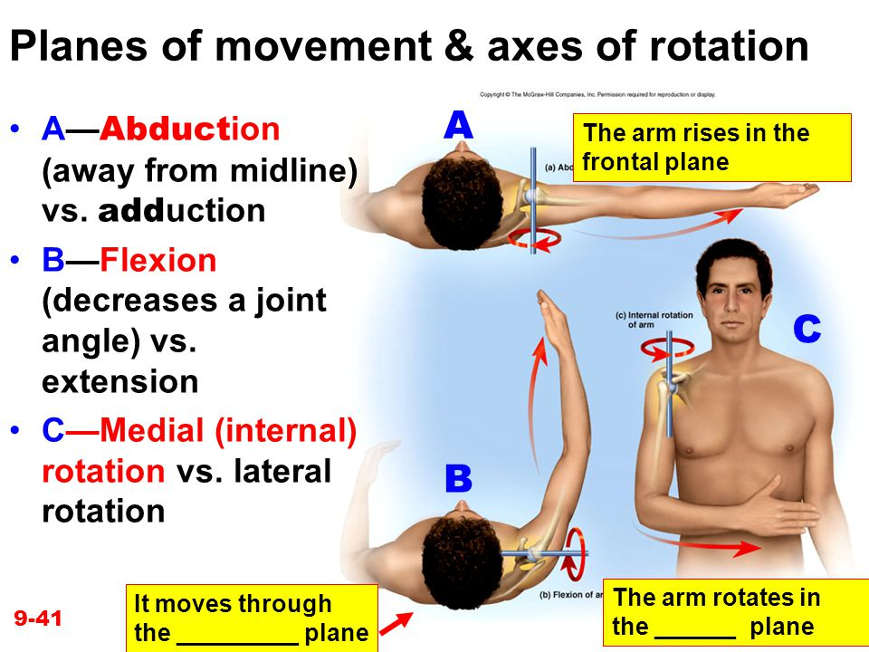 Planes of movement & axes of rotation