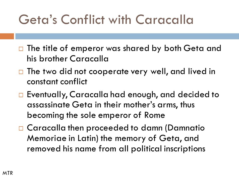 Geta's Conflict with Caracalla