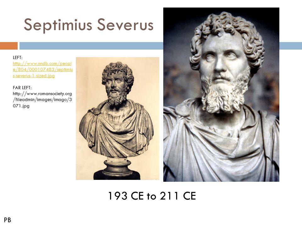 Septimius Severus 193 CE to 211 CE PB