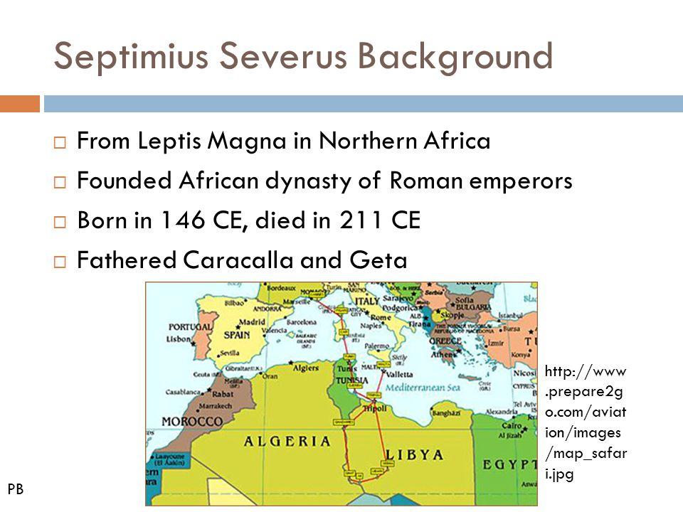 Septimius Severus Background