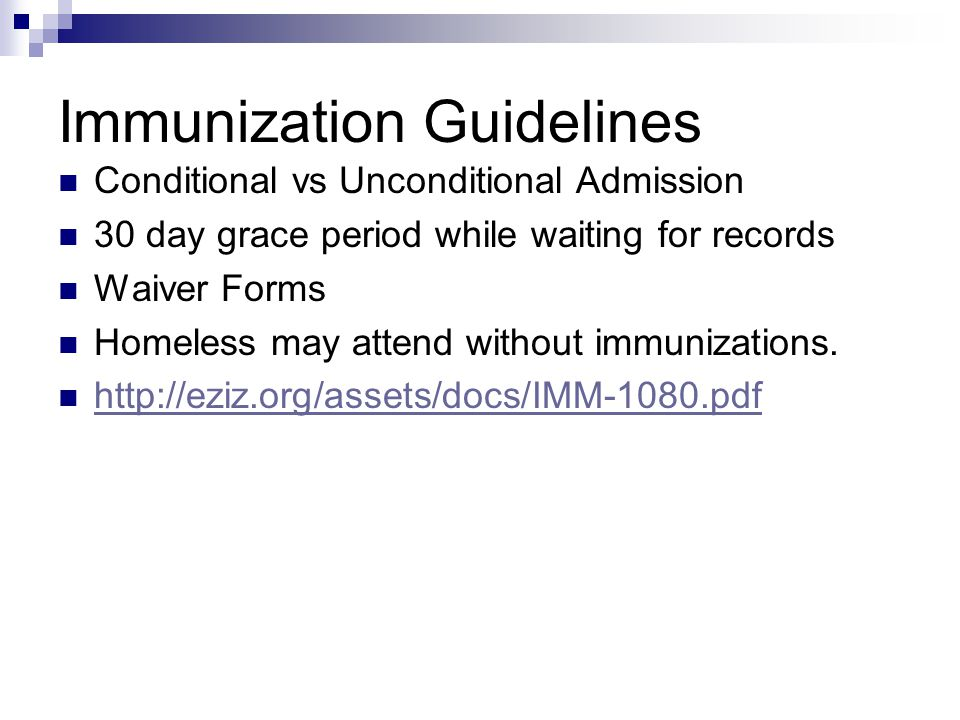 Immunization Guidelines