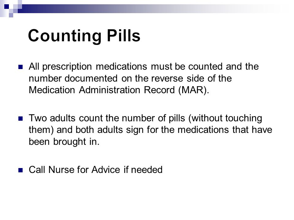 Counting Pills