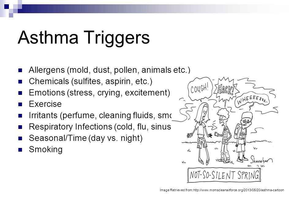 Asthma Triggers Allergens (mold, dust, pollen, animals etc.)