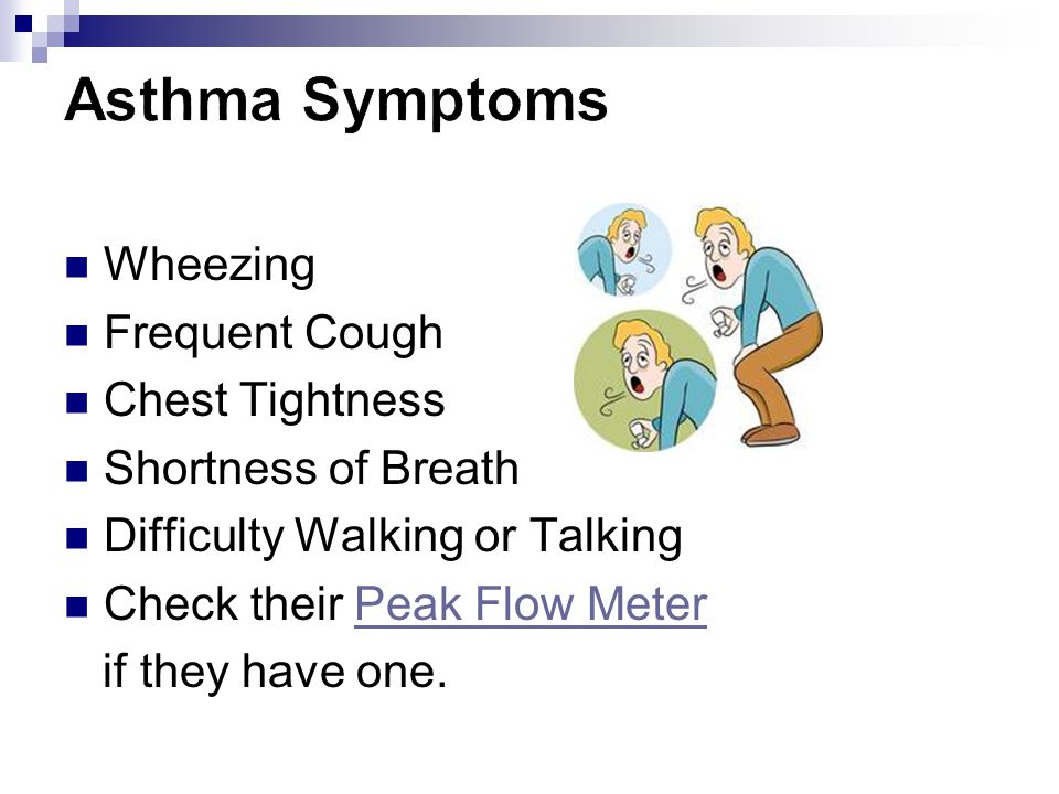 Asthma Symptoms Wheezing Frequent Cough Chest Tightness