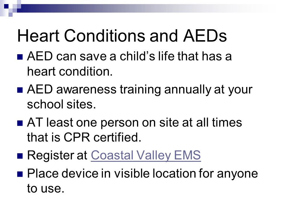 Heart Conditions and AEDs