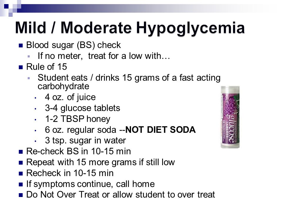 Mild / Moderate Hypoglycemia