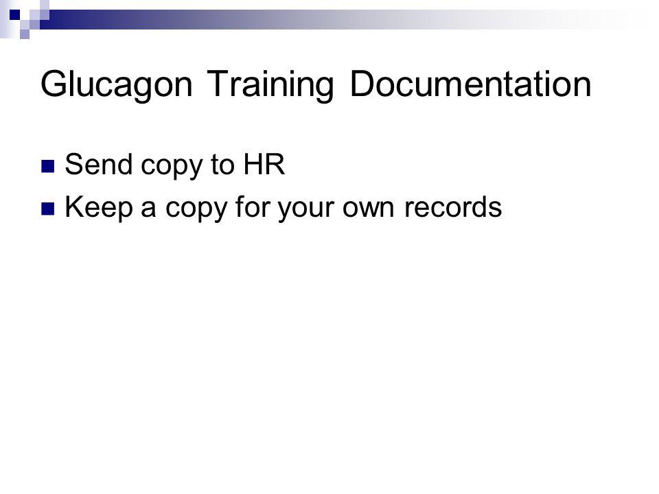 Glucagon Training Documentation