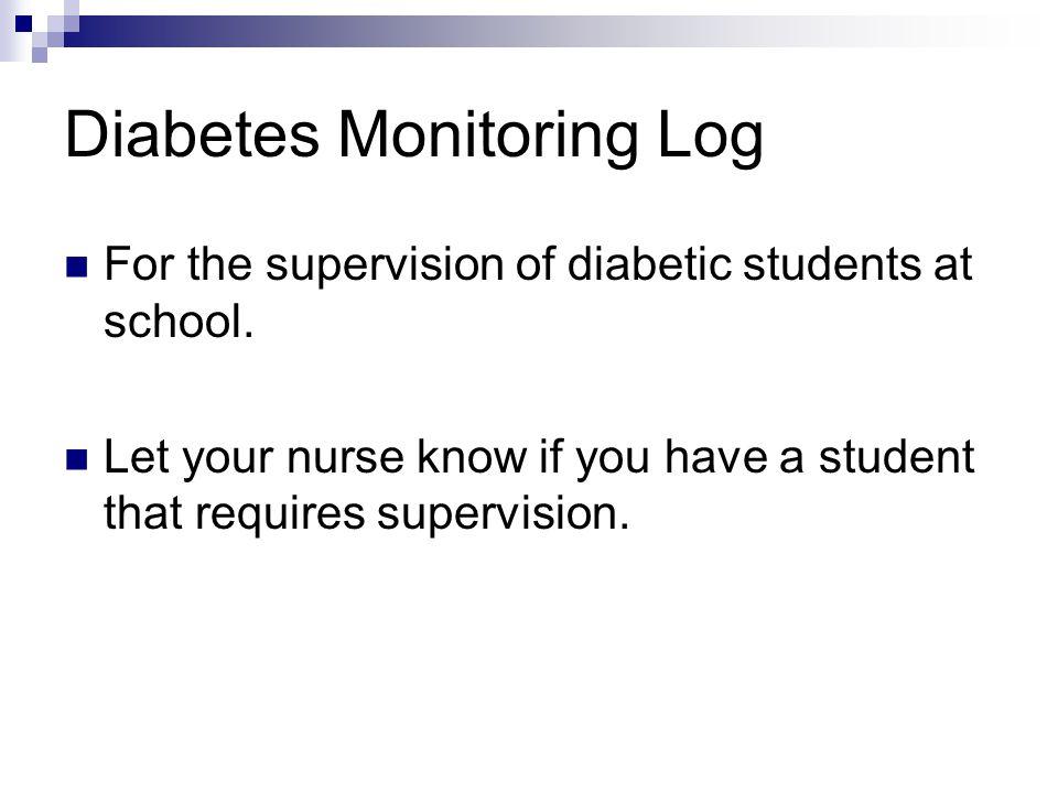 Diabetes Monitoring Log