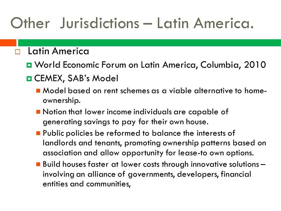 Other Jurisdictions – Latin America.