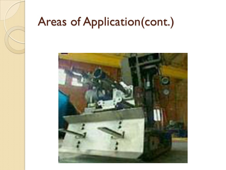 Areas of Application(cont.)
