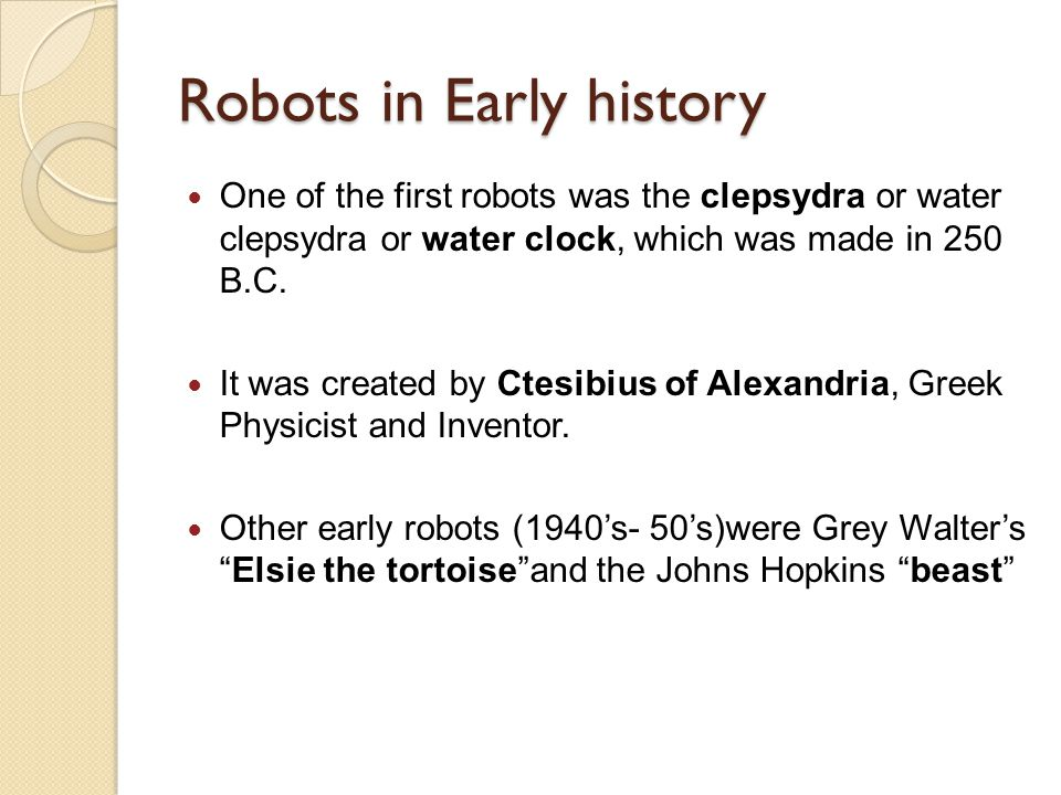Robots in Early history