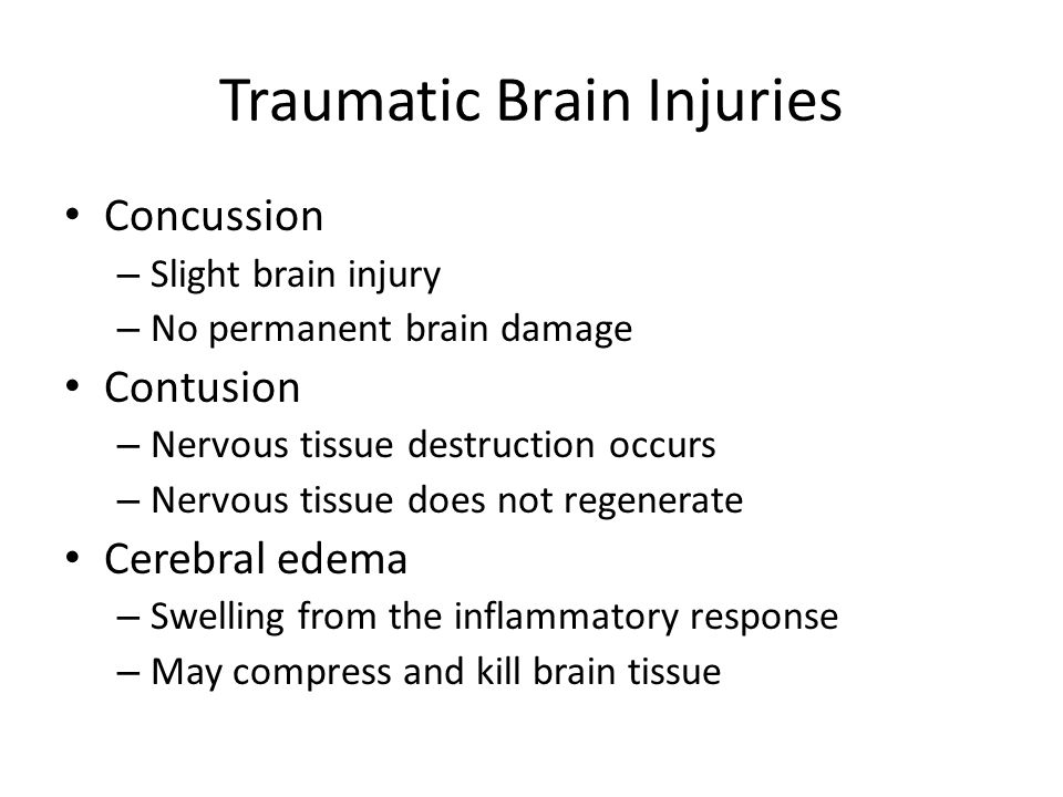 Traumatic Brain Injuries