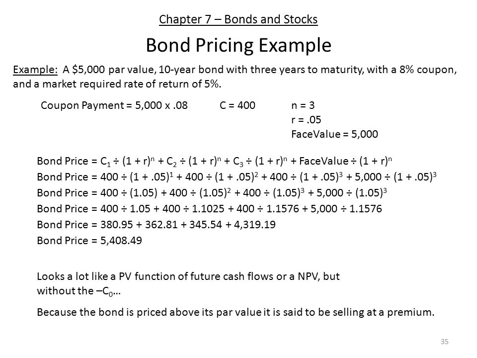 Chapter 7 – Bonds and Stocks